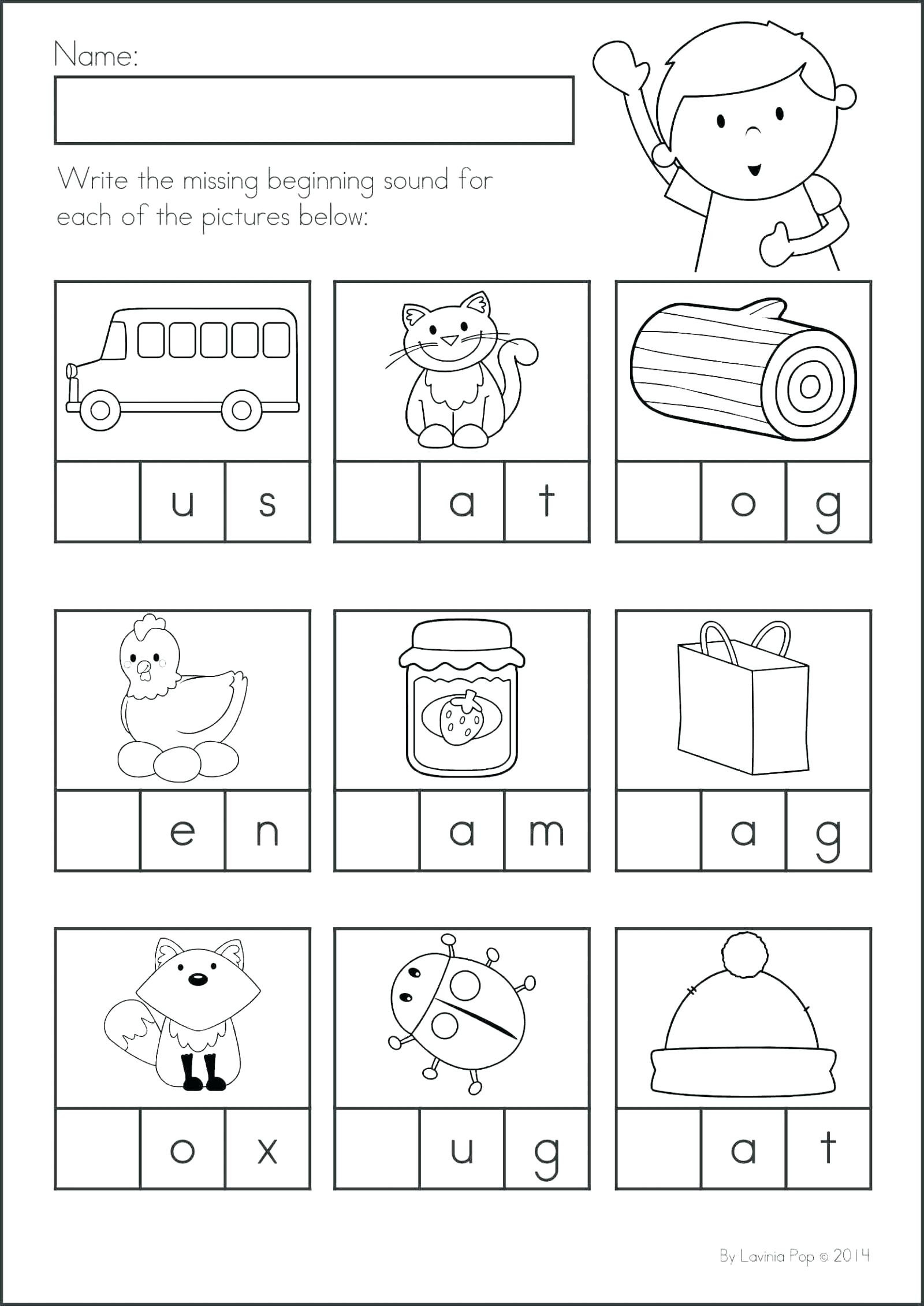 art gallery beginning phonicsrksheets oneupcolor middle sounds for kindergarten sound letter printable free alphabet preschool scripture coloring books adults sightrd mini cutouts