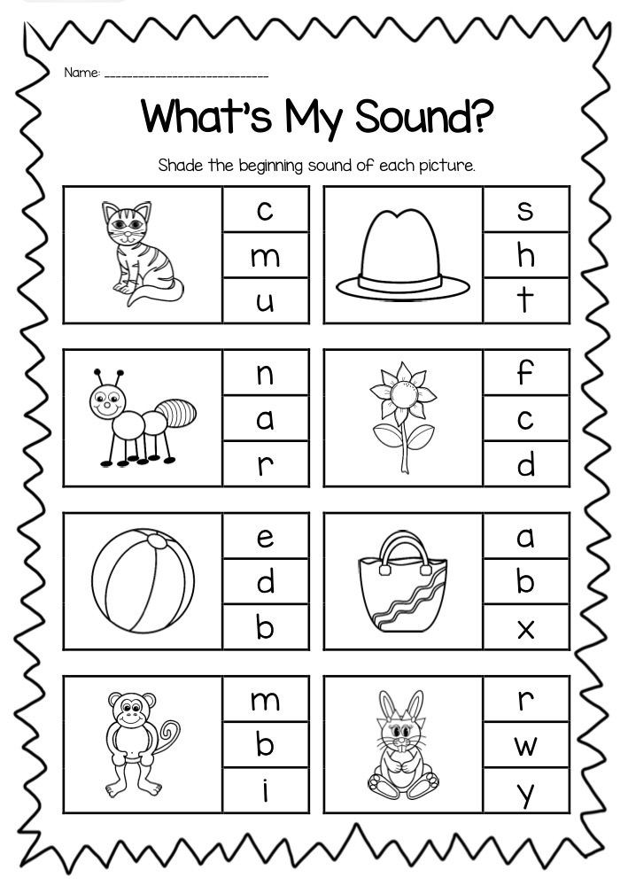 PLETE BEGINNING SOUND WORKSHEET PACK It is perfect for
