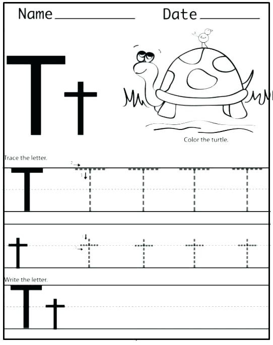 Free Printable Preschool Worksheets for the Letter T