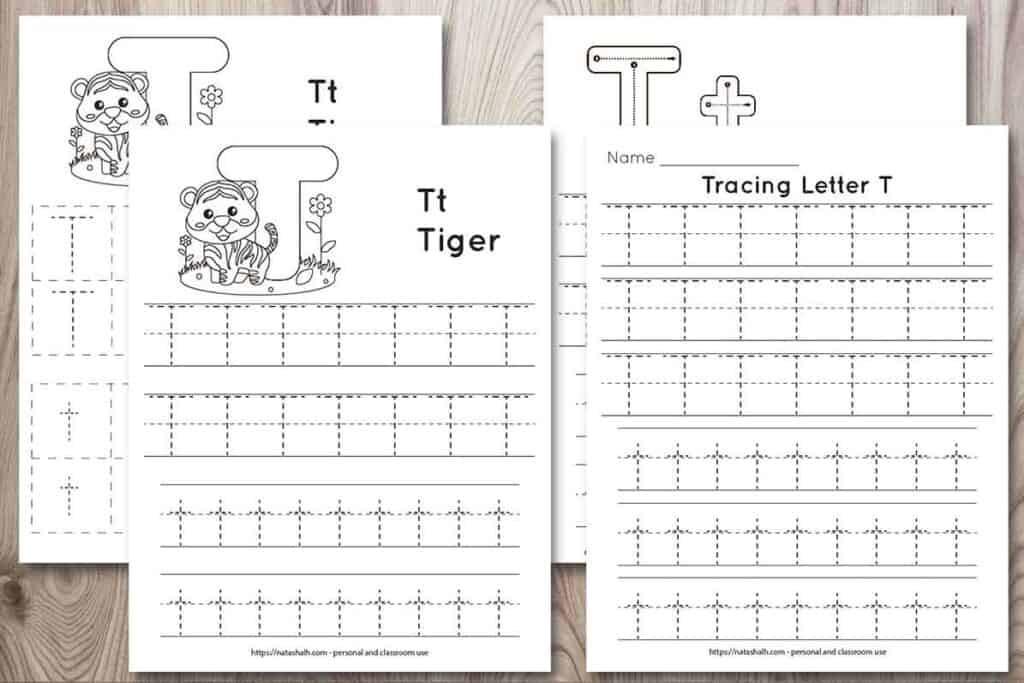 letter t tracing worksheet for preschool 1024x683