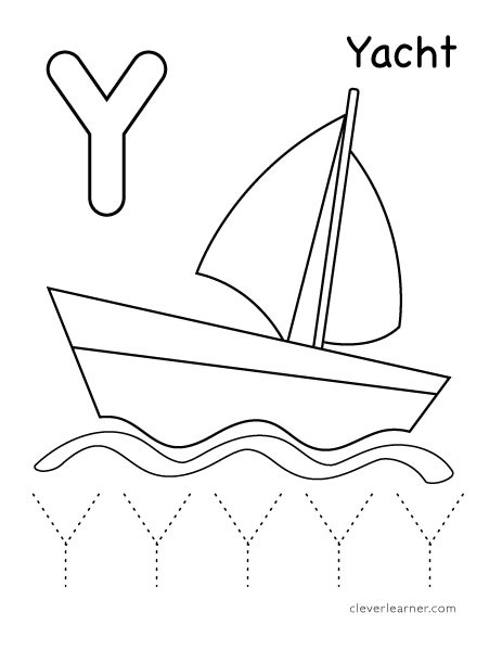 Letter Y Worksheet for Preschool Letter Y Writing and Coloring Sheet