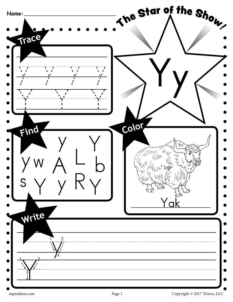 Y Star 20of 20the 20show 20Letter 20worksheet 1024x1024