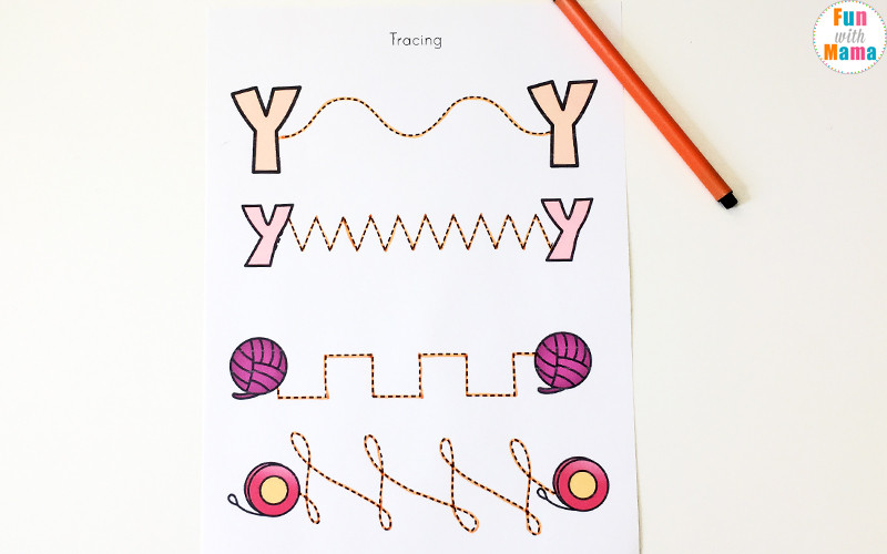 Letter Y Learning Pack