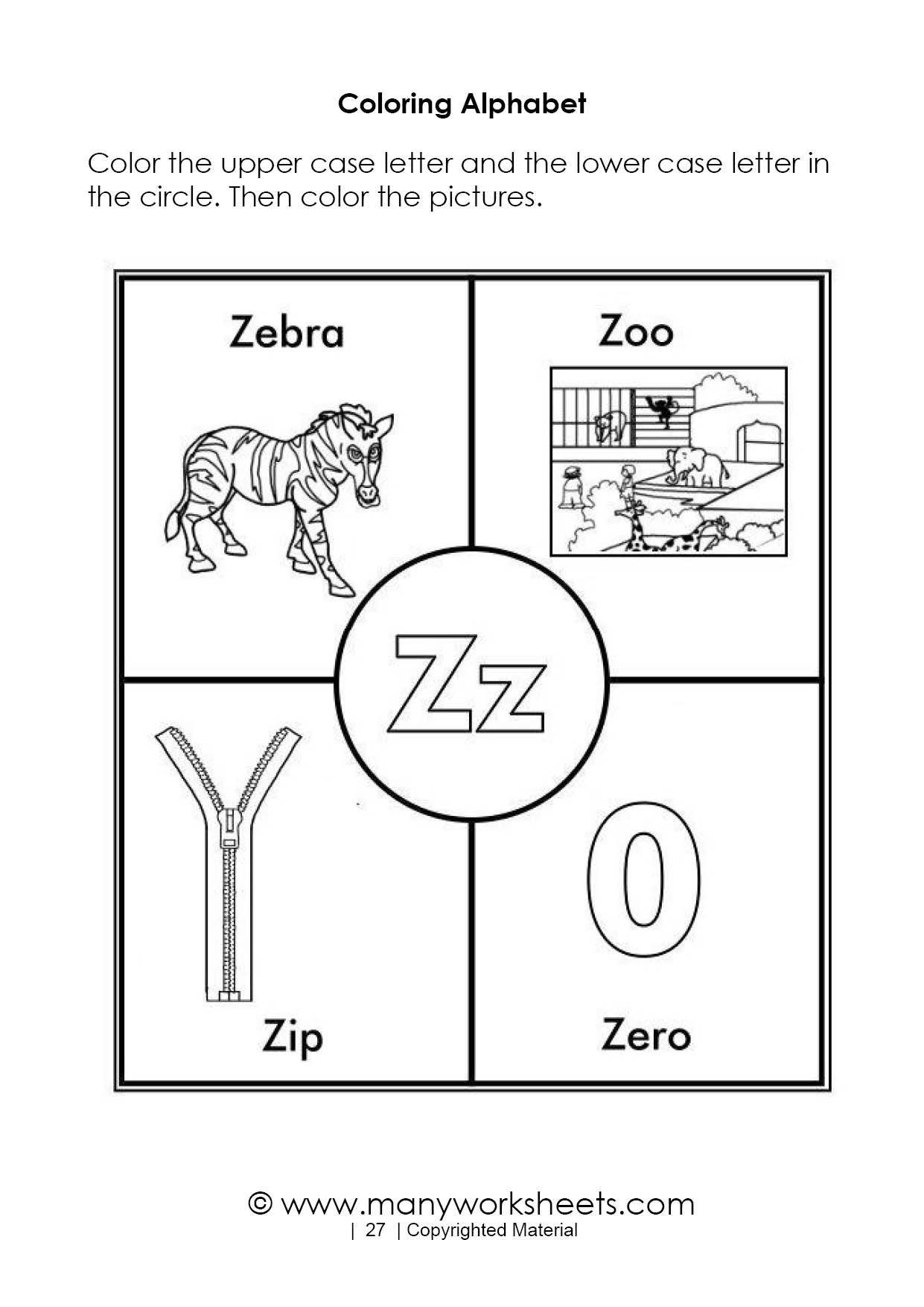 Letter Z Worksheets for Preschoolers Alphabet Colorings Letter Z Printable Image Ideas Free