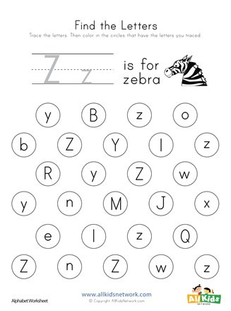 find letter z worksheet thumbnail preview a0b6c1b6 a84a 4610 bff2 9b026dd4106e 327x440