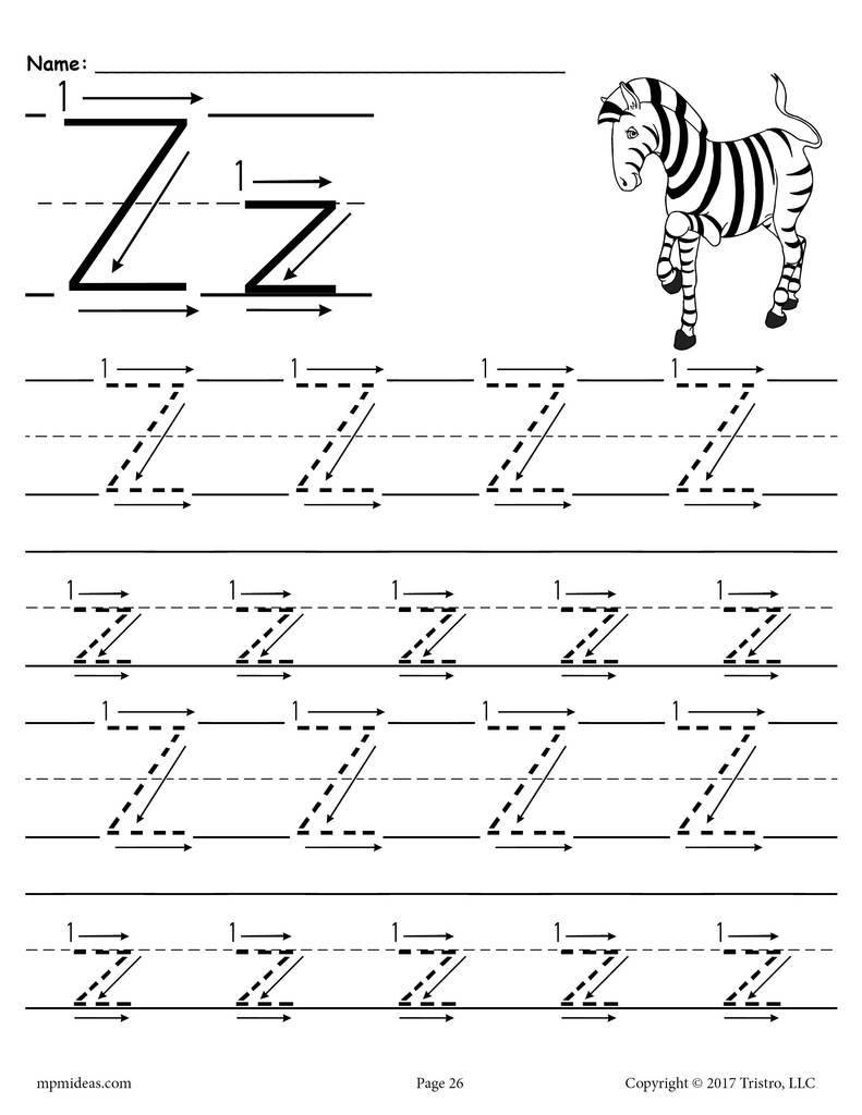 worksheet printable letter z tracing with number and arrow guides worksheets free excelent photo ideas