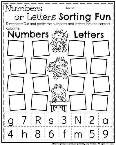 Letters and Numbers Worksheets Learning Letters and Numbers Worksheets