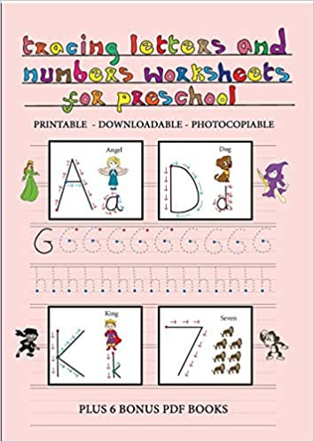 Letters and Numbers Worksheets Tracing Letters and Numbers Worksheets for Preschool This