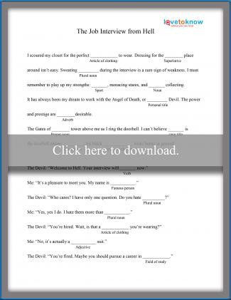 Mad Libs Printable Worksheets Printable Mad Libs for High School Students