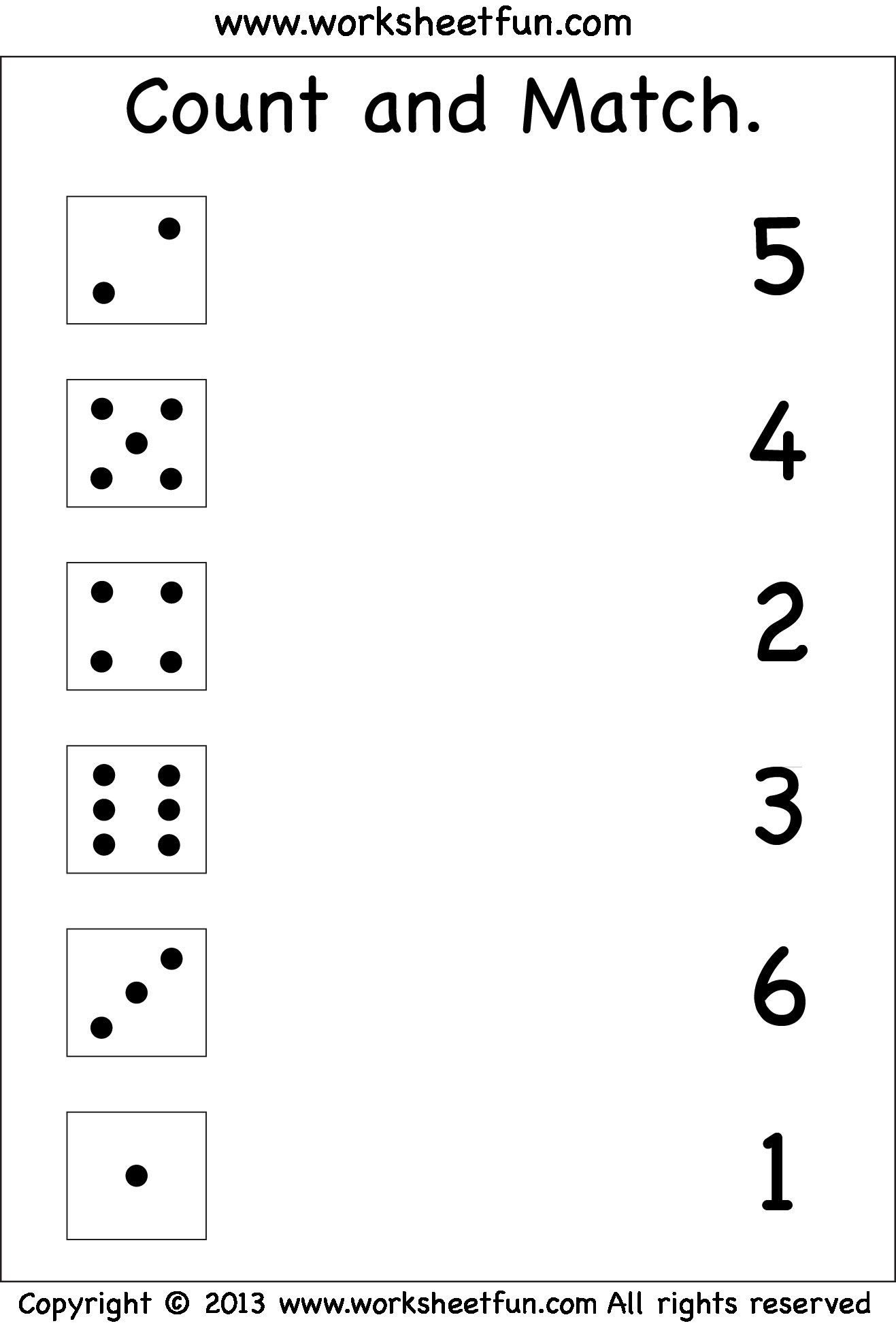 Match the Numbers Worksheet 7 Pre K Worksheets Numbers Matching In 2020