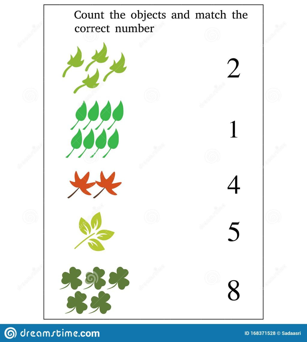 Match the Numbers Worksheet Math Worksheet Math Worksheet Match the Numbers to Objects