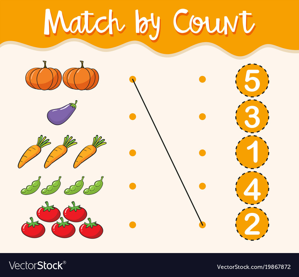 Match the Numbers Worksheet Math Worksheet Template with Matching Numbers and