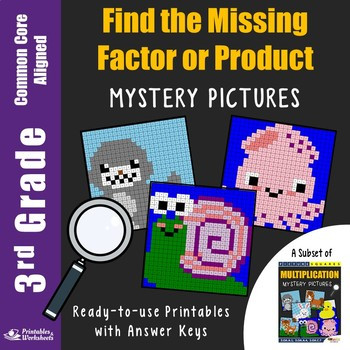 Missing Factor Multiplication Worksheet Missing Factor Multiplication Worksheets 3rd Grade Math Station Mystery Picture