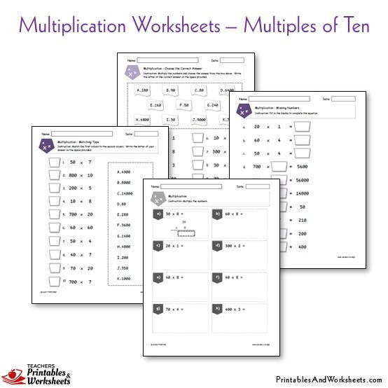 Missing Factor Multiplication Worksheet Multiplication Worksheets