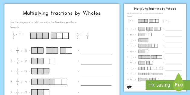 us2 m 159 multiplying fractions by wholes with visual support activity sheet