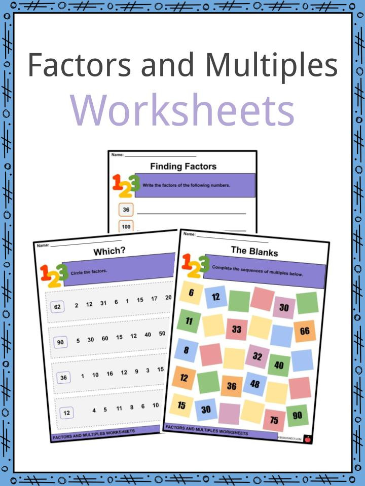 Multiples Of 6 Worksheet Factors and Multiples Facts & Worksheets for Kids