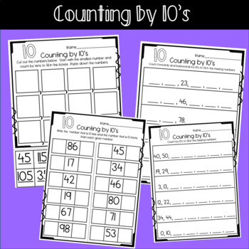 Multiples Of Ten Worksheet Multiples Of Ten Worksheets Counting Addition & Subtraction
