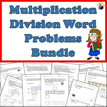 Multiplication and Division Practice Worksheets Multiplication Division Word Problems Worksheets Bundle Grade 3 4