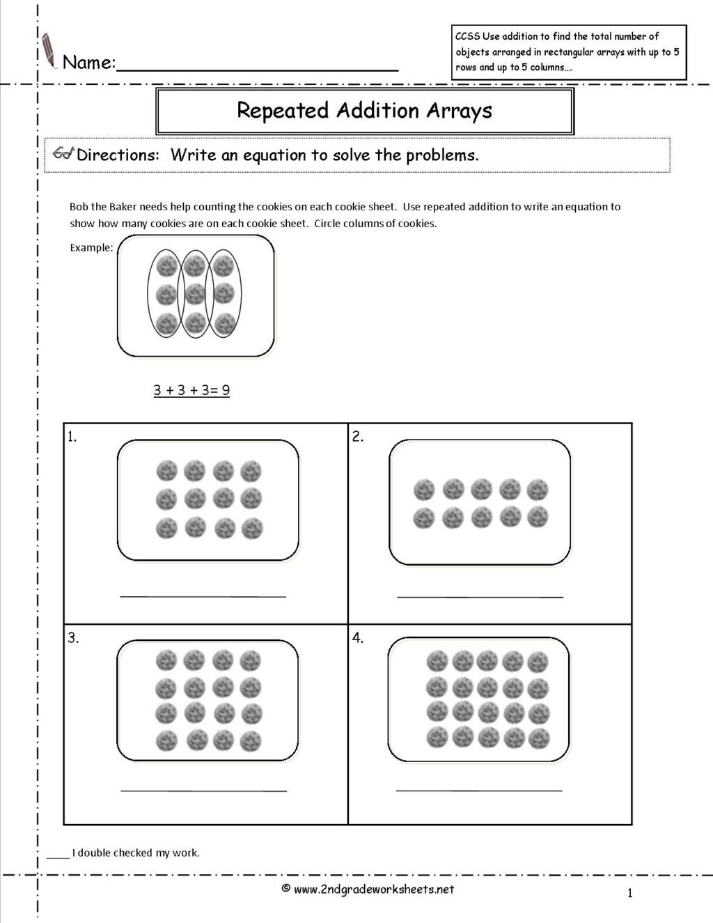 Multiplication Array Worksheets 3rd Grade Math Worksheet Mone Math Worksheets 3rd Grade Awesome