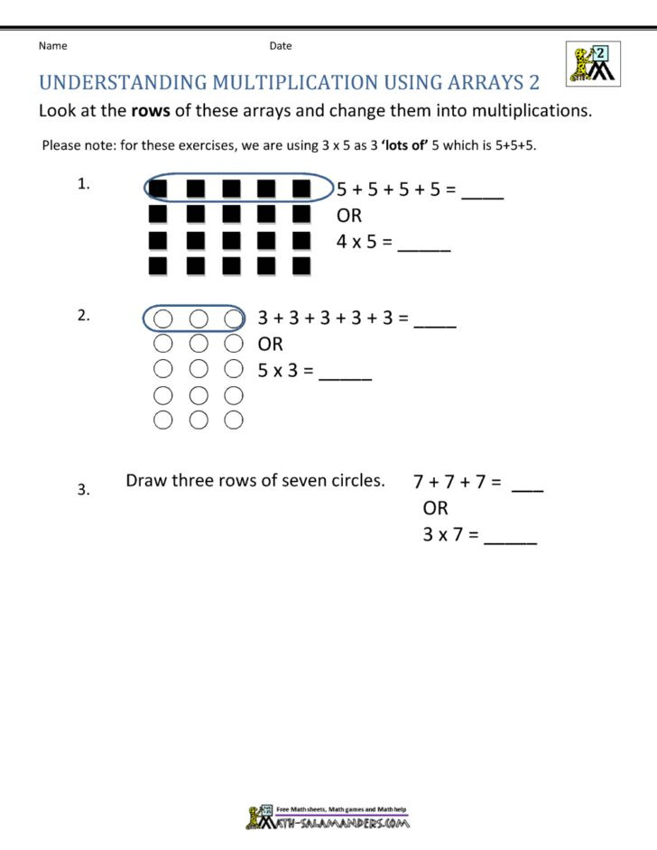 Multiplication Array Worksheets 3rd Grade May8forstudents Page 5 Arrays Worksheets 3rd Grade Number