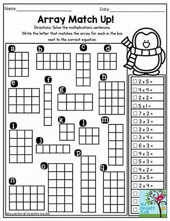 Multiplication Array Worksheets 3rd Grade Multiplication Array Worksheets 3rd Grade