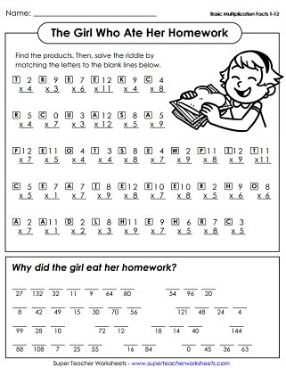 Multiplication by 0 Worksheets Multiplication Worksheets Up to 12s
