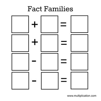 Multiplication Fact Families Worksheets Fact Families Art Project