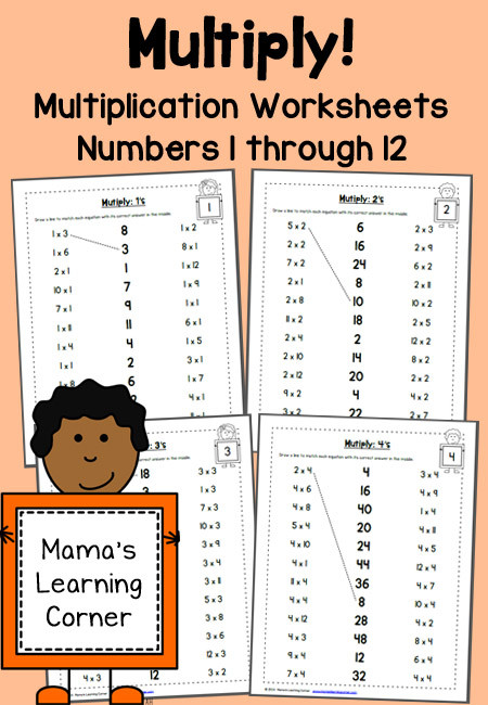 multiplication worksheets numbers 1 through 12