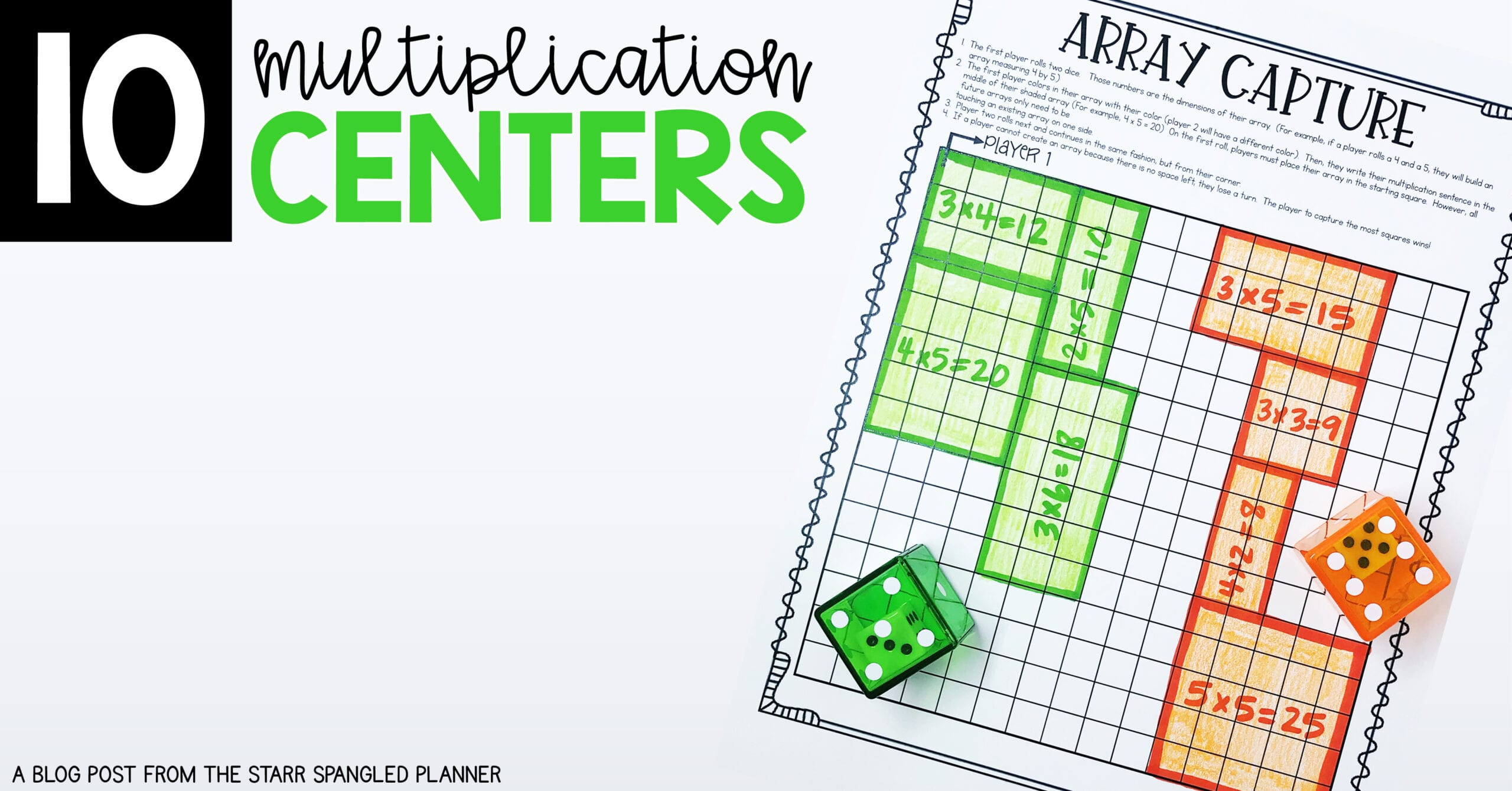 Multiplication Facts Strategies Worksheets 10 Multiplication Math Center Games & Activities