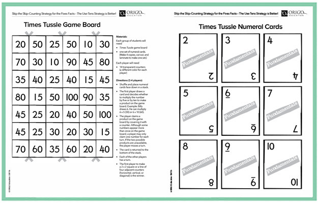 Multiplication Facts Strategies Worksheets Multiplication by 10 Strategy Game & Free Worksheets origo