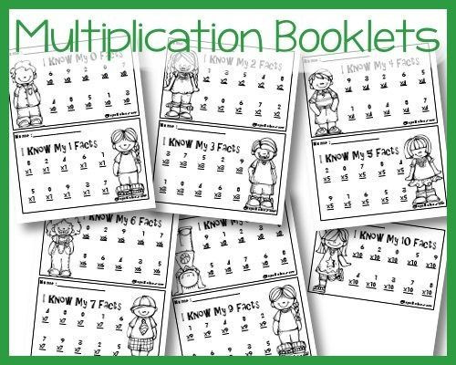 Multiplication Facts Strategies Worksheets Simple I Know My Multiplication Fact Booklets Royal Baloo