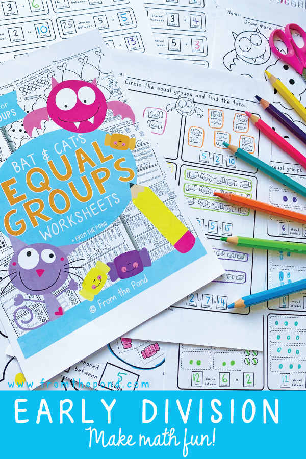 Multiplication Groups Of Worksheets Equal Groups for Division and Multiplication