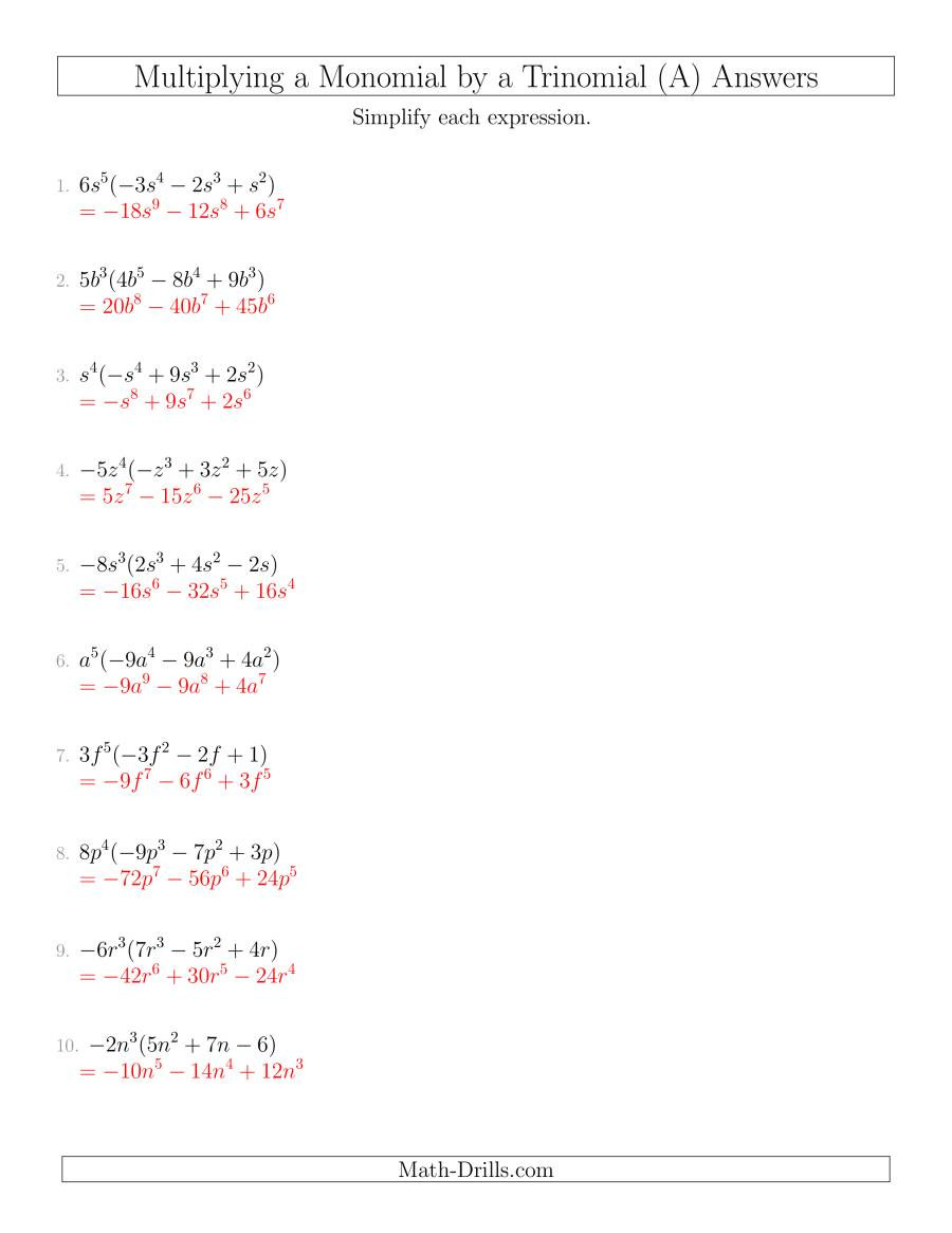polynomials multiplying monomial trinomial nothirdfactor 001