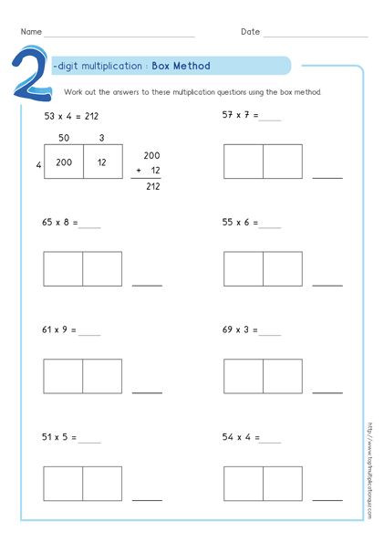 Multiplication Partial Products Worksheets area Model Multiplication Worksheets Pdf In 2020
