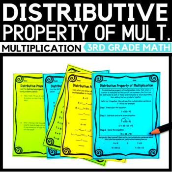 Multiplication Properties Worksheets 4th Grade Distributive Property Multiplication Worksheet 4th Grade