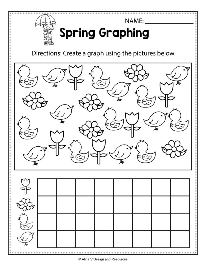 Multiplication Puzzle Worksheets 4th Grade Spring Graphing Math Worksheets and Activities for Kids