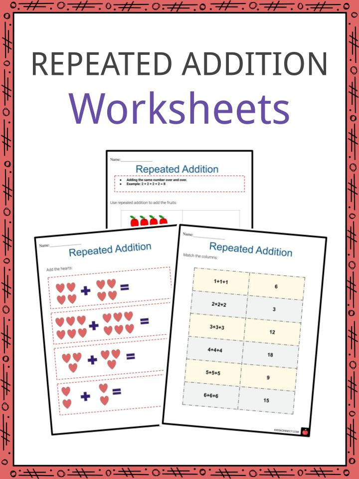 Repeated Addition Worksheets 6