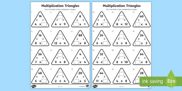 t n 5920 multiplication triangles 4 and 8 times tables activity sheet