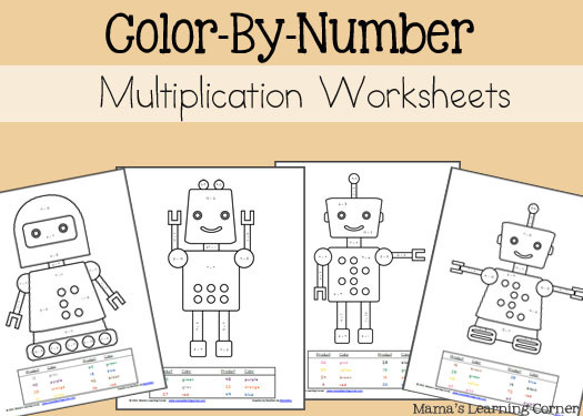 Multiplication Worksheets Color by Number Multiplication Color by Number Worksheets Mamas Learning