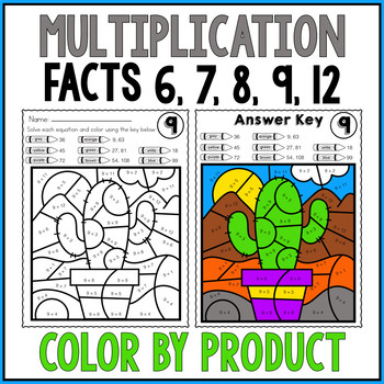 Multiplication Worksheets Color by Number Multiplication Review Color by Number Worksheets Tricky Facts 6 7 8 9 and 12