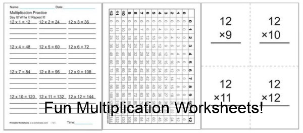 Multiplication Worksheets with Answer Key 70 Fun Multiplication Worksheets ⭐ Charts Flash Cards