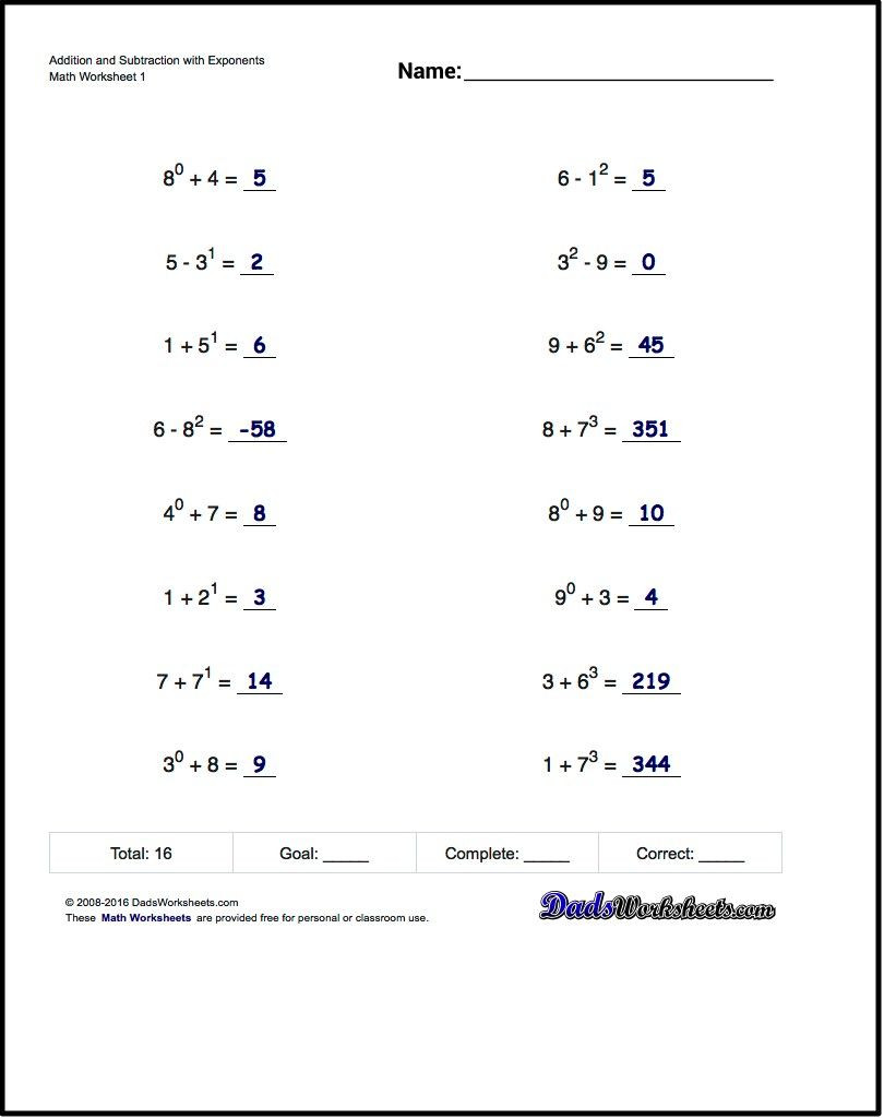 Multiply and Divide Exponents Worksheet Practice Exponents Worksheets Introducing Exponent Syntax