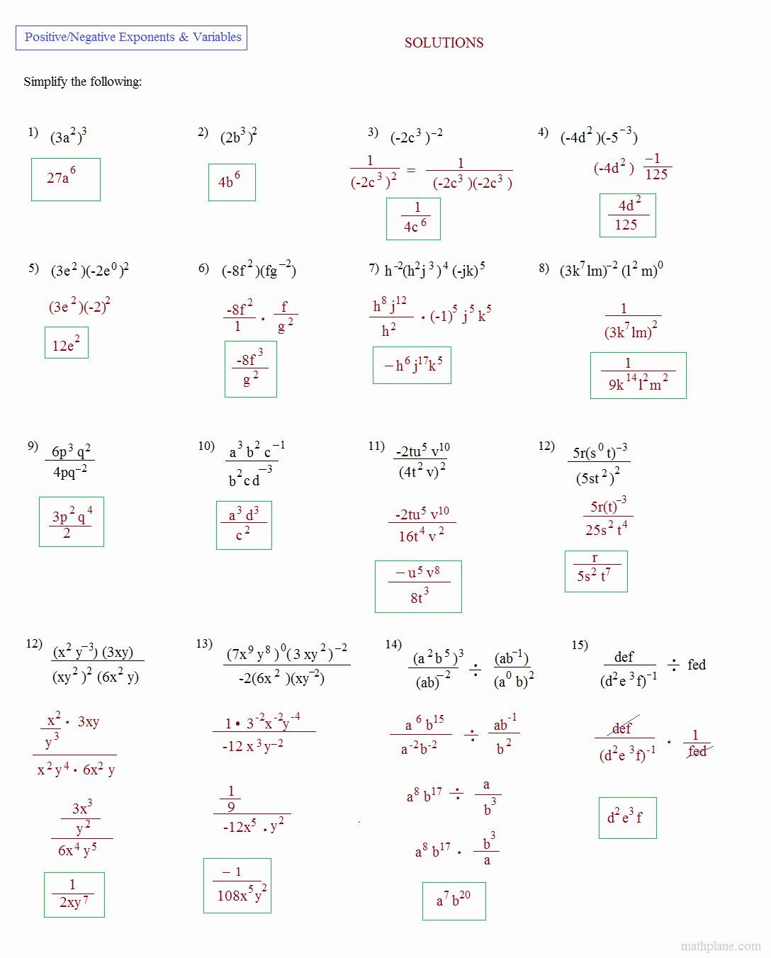 Multiply and Divide Exponents Worksheet Simplify Exponential Expressions Worksheet Awesome Math