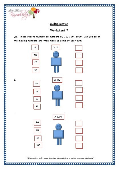 grade 3 maths worksheets 5 2 multiplication by 10 100 and 1000