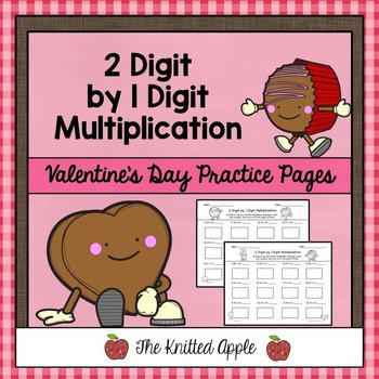 2 Digit by 1 Digit Multiplication using Partial Products Valentines Day Theme