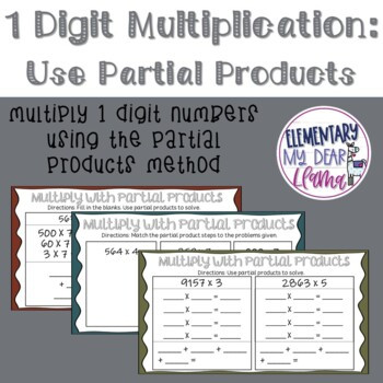 Digital 1 Digit Multiplication Using Partial Products