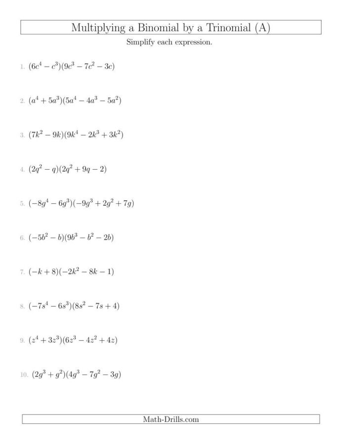 Multiplying Binomials Box Method Worksheet X Y Graph Free Math Worksheets Multiplying Polynomials Jesus