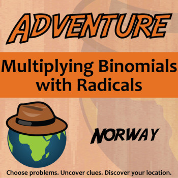 Multiplying Binomials with Radicals Worksheet Adventure Multiplying Binomials with Radicals norway