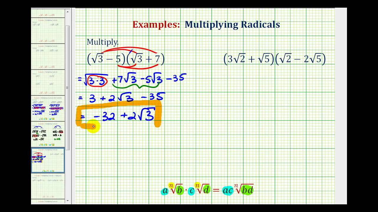 Multiplying Binomials with Radicals Worksheet Ex Multiply Binomials with Square Roots