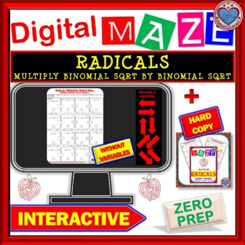Multiplying Binomials with Radicals Worksheet Multiply Binomials with Radicals Worksheets & Teaching
